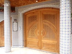 entrada a mansión