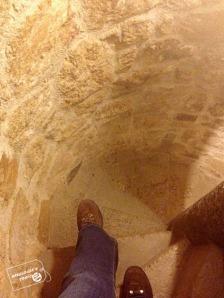 escalera de caracol en Manzanares el Real