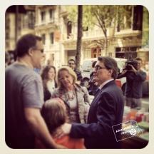 Artur Mas en Sant Jordi
